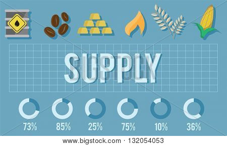 Supply Business Donate Logistic Network Market Concept
