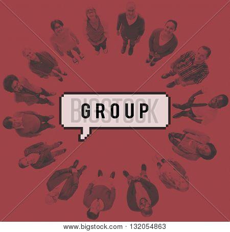 Group Team Society Company Organization Concept