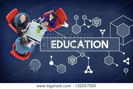 Education Particles Geometry Shapes Graphics Concept