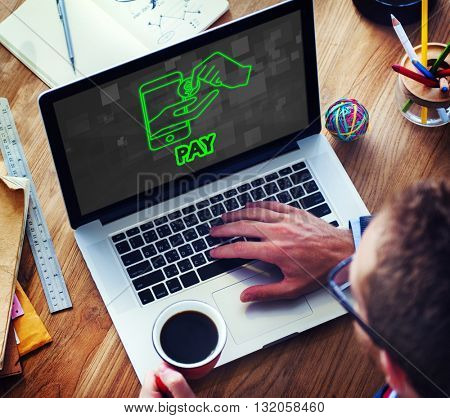 Pay Cash Payment Accounting Money Concept