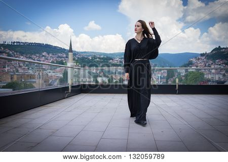 Attractive girl posing