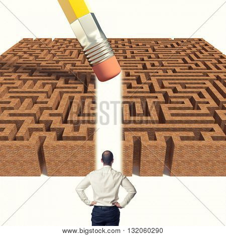 4d brick maze and eraser