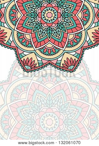 Floral oriental pattern with place for text.