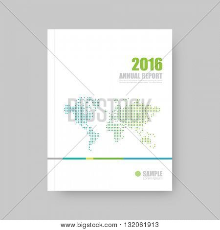 Annual report cover, brochure template