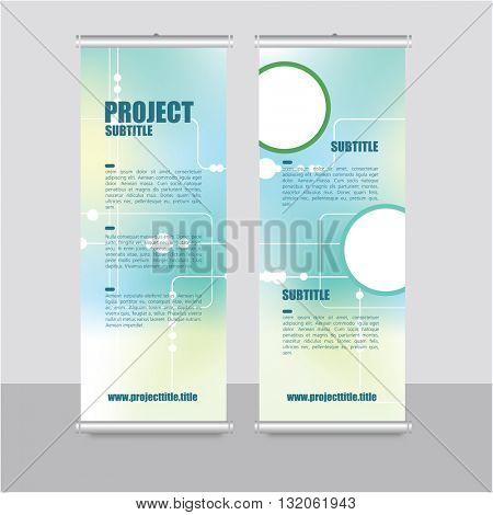 Roll up banner template - presentation design