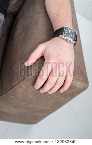 Businessman on sofa