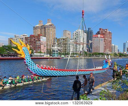 Preparation For The 2016 Dragon Boat Festival