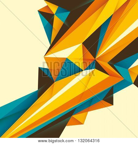 Abstract illustration with geometric paths. Vector illustration.