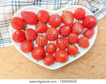 Strawberry In Heart