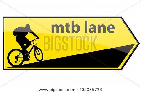 mtb cycle lane direction signboard