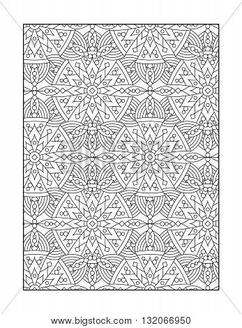 Coloring page for adults (children ok, too) with whimsical pattern, or monochrome decorative background.