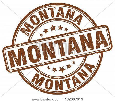 Montana brown grunge round vintage rubber stamp.Montana stamp.Montana round stamp.Montana grunge stamp.Montana.Montana vintage stamp.