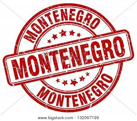 Montenegro red grunge round vintage rubber stamp.Montenegro stamp.Montenegro round stamp.Montenegro grunge stamp.Montenegro.Montenegro vintage stamp.