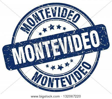 Montevideo blue grunge round vintage rubber stamp.Montevideo stamp.Montevideo round stamp.Montevideo grunge stamp.Montevideo.Montevideo vintage stamp.