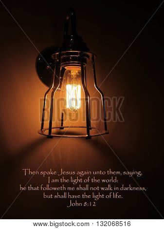 Bible Verse Jesus the Light of World