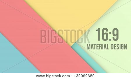Wide Background Unusual modern material design. Retro style. Abstract Vector Illustration.
