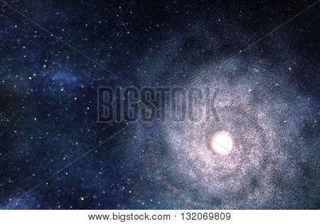 Big Spiral Galaxy - 3D Rendered Digital Illustration poster