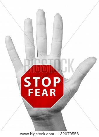 Hands with the drawn road signs. Isolated on a white background