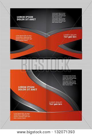 Brochure design. Colorful Bi-Fold Brochure Design. Corporate Leaflet, Cover Template