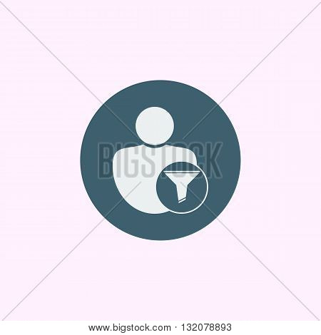 User Filter Icon In Vector Format. Premium Quality User Filter Symbol. Web Graphic User Filter Sign