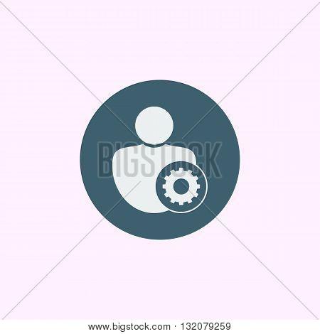 User Settings Icon In Vector Format. Premium Quality User Settings Symbol. Web Graphic User Settings