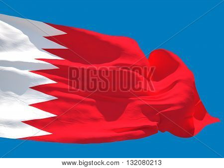 Bahrain wave flag HD Kingdom of Bahrain