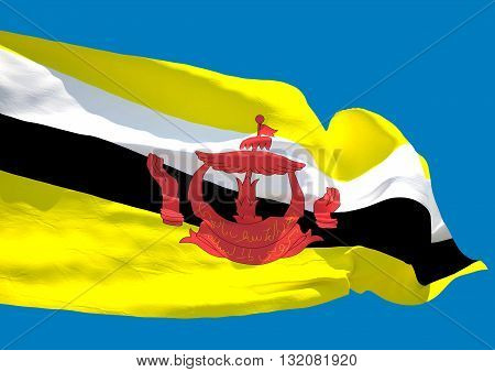 Brunei wave flag HD Nation of Brunei Abode of Peace