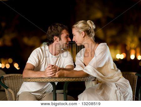 Jong paar in liefde