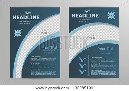 Vector flyer template design. For business brochure, leaflet or magazine cover