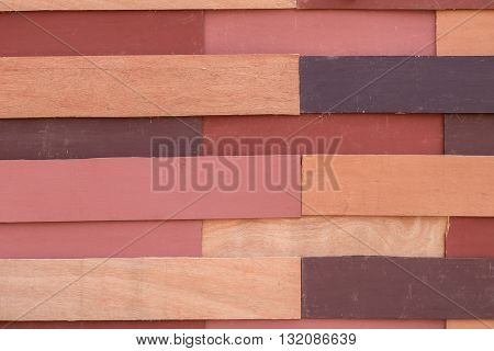Colorful wooden plank wall for background, Textures