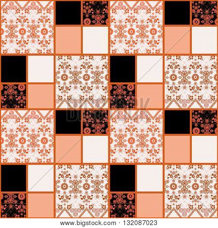 Patchwork seamless pattern lace ornament design background