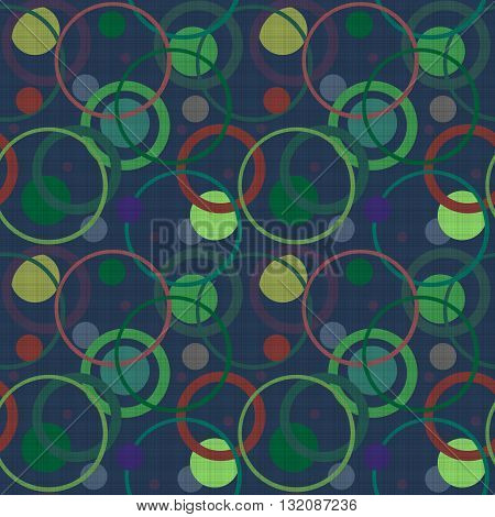Seamless abstract pattern with circles ornamental elements texture background