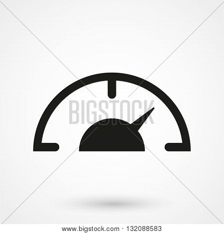 Gauge Meter Icon Symbol Black On White Background