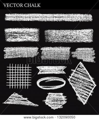 Vector Chalk Tone Value. Hand drawn illustration.