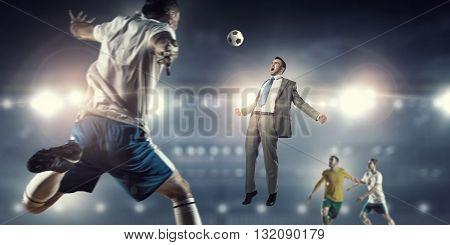 Businessman playing ball