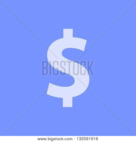 Dollar symbol in front of blue background