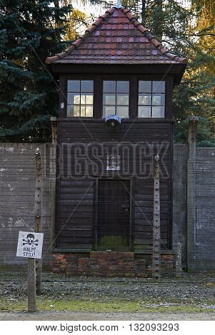 Watchtower In Auschwitz I Concentration Camp