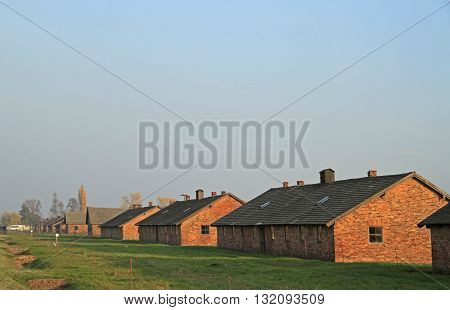 Barracks Of Auschwitz Ii Birkenau Concentration And Extermination Camp