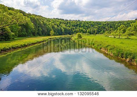 River Brenz Eselsburger Tal valley - jewel of the swabian alps