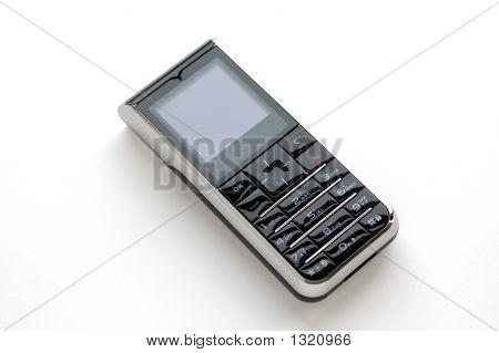 Moderne mobiele telefoon met witte achtergrond