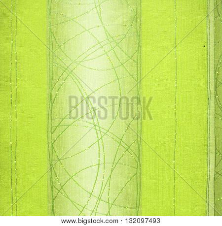 GREEN, ABSTRACT RAISED LINE PATTERN ON ROUGH PAPER , BACKGROUND