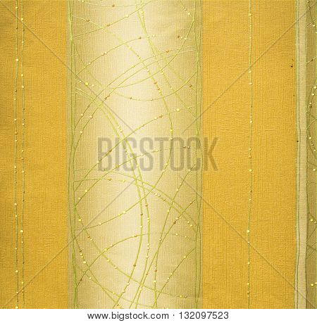 GOLD, ABSTRACT RAISED LINE PATTERN ON ROUGH PAPER , BACKGROUND