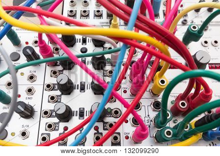 cables analog synthesizer - modular synth system