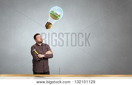 Guy with construction tools