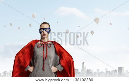 She is super woman