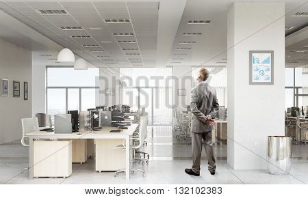 Businessman in office interior