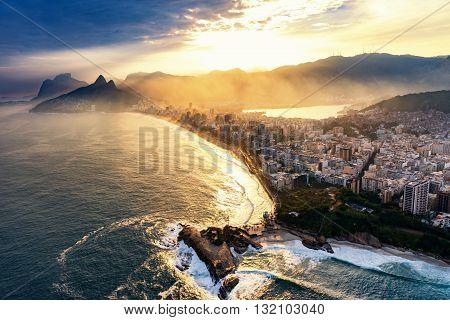 Rio De Janeiro, Sunset Time