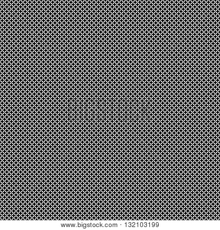 Seamless geometric vector pattern. Modern ornament with dotted elements. Black and white pattern