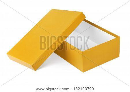 Opened shoe box isolated on a white background.