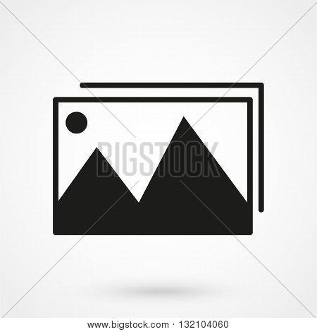 Photo Gallery Icon Black On White Background